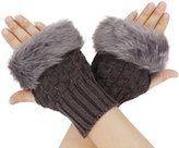 Simplicity Ladies Fingerless Faux Fur Gloves Trendy Fashion Winter Accessories