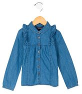 Tommy Hilfiger Girls' Denim Button-Up Top w/ Tags