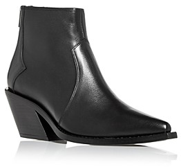 Anine Bing Women's Tania Pointed Toe Block Heel Booties