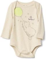 babyGap   Disney Baby Winnie the Pooh organic long sleeve bodysuit