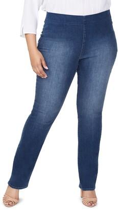 NYDJ Pull-On High Waist Straight Leg Jeans