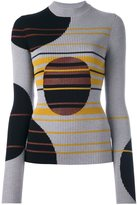 Maison Margiela contrast patterned ribbed knit top - women - Wool/Viscose/Polyester - M