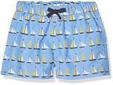 Rachel Riley Baby Boys' Sailboat Swim Trunks Sleepsuit,18-24 Months