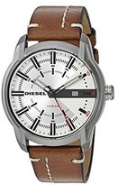 Diesel Men's 'Armbar' Quartz Stainless Steel and Leather Casual Watch, Color:Brown (Model: DZ1814)