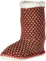 Noble Mount Womens Oxford Indoor Boot Slippers - Small