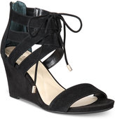 Alfani Women's Karlii Lace-Up Wedge Sandals, Only at Macy's