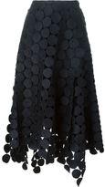 Marni 'Runway Skirt in Dot Macramé' asymmetric skirt
