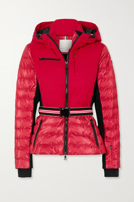 Erin Snow Kat Hooded Belted Quilted Ski Jacket - Red