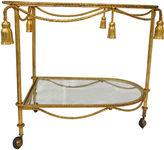 One Kings Lane Vintage Rope & Tassel-Motif Tea Cart