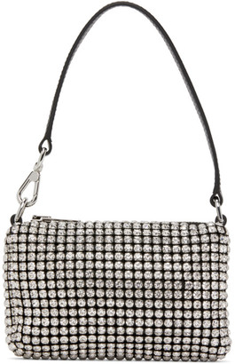 Alexander Wang Black and White Mini Rhinestone Wangloc Bag