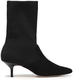 d57b8395d4a Annalise Suede And Stretch-knit Sock Boots