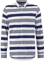 Wemoto Shaw Shirt White Navyblue