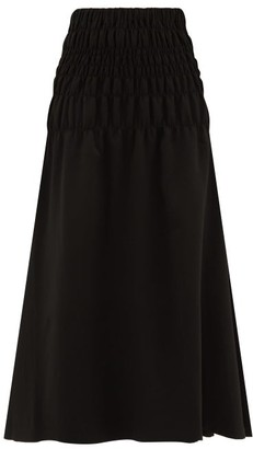 Rhode Resort Greta High-waisted Satin Skirt - Womens - Black