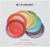 Le Creuset Set 6 rainbow tea plates