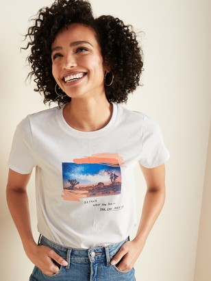 Old Navy EveryWear Graphic Crew-Neck Tee for Women