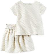 Carter's 2-Pc. Floral Jacquard Top & Skirt Set, Toddler Girls (2T-5T)