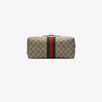 Gucci brown Ophidia GG Supreme wash bag