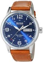 HUGO BOSS Men's Analogue Quartz Watch with Leather Strap – 1513331