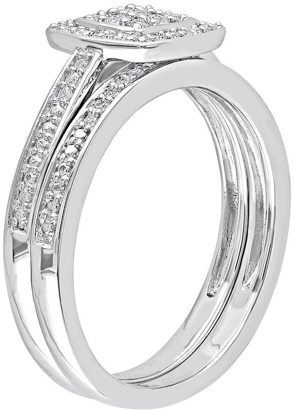 Kohl's Diamond Halo Engagement Ring Set in Sterling Silver (1/4 ct. T.W.)