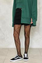 Nasty Gal nastygal Crooked Beat Fishnet Tights