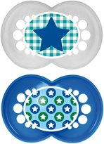 Mam Trends Silicone Pacifier - Blue - 6+ Months - 2 ct