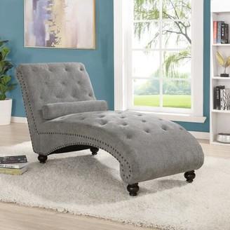 Rosdorf Park Anastagio Chaise Lounge Fabric: Blue
