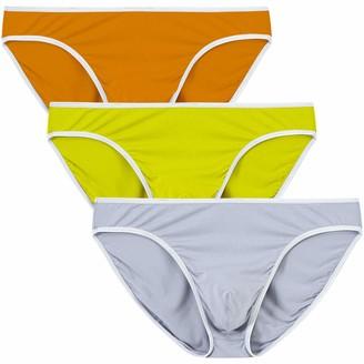 MoFiz Men's Bikinis Briefs Low Rise Briefs Bamboo Bikinis Lightweight Soft Underwear 3 Pack - - Medium