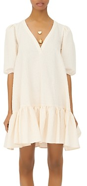 Maje Rolita Ruffled Shift Dress
