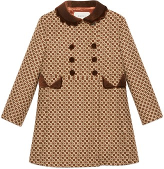 Gucci Children's Square G wool coat