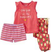 Osh Kosh Girls 4-12 Print 3-Piece Pajama Set
