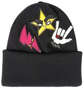 DSQUARED2 Punk Patent Patches Wool Beanie Hat