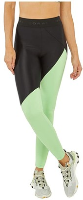 Koral Pipe Energy High-Rise Leggings (Black/Kiwi) Women's Casual Pants