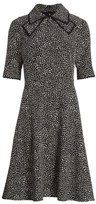 Teri Jon By Rickie Freeman Bow Neck A-Line Shirtdress