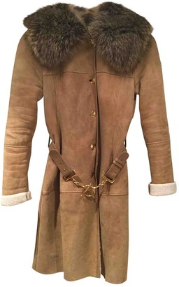 Gucci Camel Leather Coat for Women