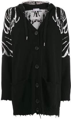 RED Valentino hooded wings knit cardigan