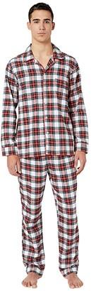 J.Crew Flannel Pajama Set in Snowy Stewart Tartan (Red/Navy Plaid) Men's Pajama Sets