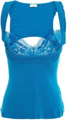 La Perla Lace-trimmed Cutout Stretch-modal Camisole
