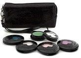 Anna Sui Eye Color Set: 4x Eye Color Accent + 1x Eye Gloss + Black Cosmetic Bag - 5pcs+1bag