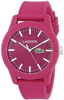 Lacoste Women's 2010793 Lacoste.12.12 Watch With Pink Silicone Band