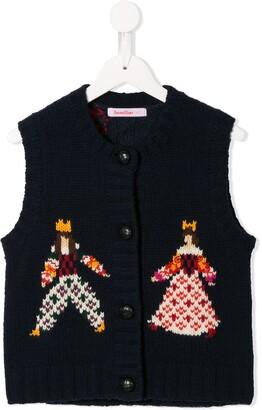 Familiar Intarsia-Knit Vest