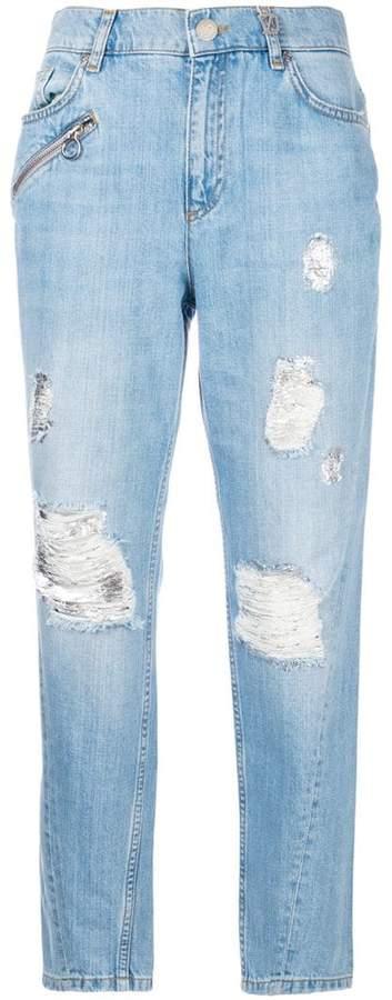 Versace distressed boyfriend jeans