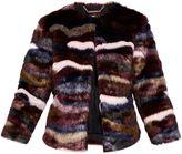 Ted Baker Robarla Multi-Coloured Faux Fur Jacket