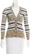 M Missoni Knit Button-Up Cardigan