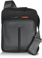 Giorgio Fedon Web Micro Black Nylon and Leather Crossbody Bag