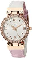 Bulova Women's Quartz Stainless Steel and Leather Casual Watch, Color:Two Tone (Model: 44L232)