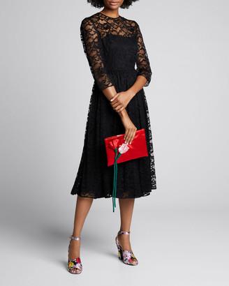 Prada Peony Chantilly Lace Dress