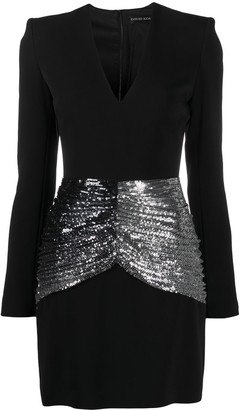 David Koma Sequin-Panelled Mini Dress