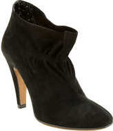 Rouched Suede Ankleboot
