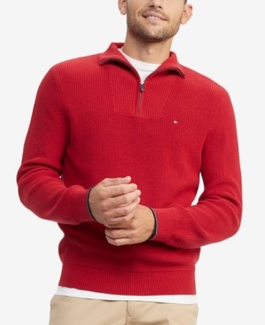 Tommy Hilfiger Men's Peterson Classic-Fit Quarter Zip Sweater