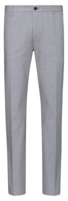 Extra-slim-fit pants in Vichy-check stretch cotton